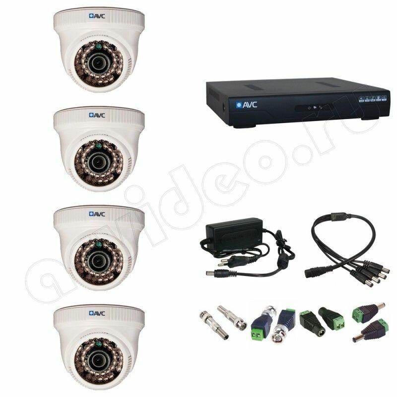 Комплект видеонаблюдения AVC 4-1 Full HD на 4 камеры