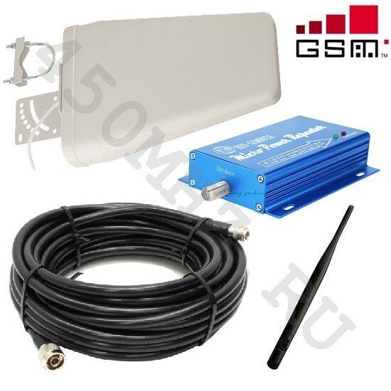 Комплект усиления GSM / 3G 900 МГц mini - репитер (усилитель) + 2 антенны