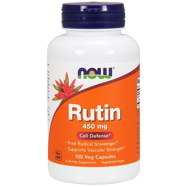 Now Foods Рутин 450 мг 100 растительных капсул Now-00735