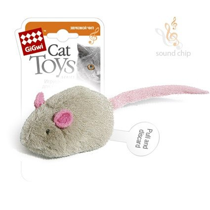 GiGwi Игрушка для кошек Мышка с электронным чипом 6 см 1шт ( Интерактивные игрушки для кошек )