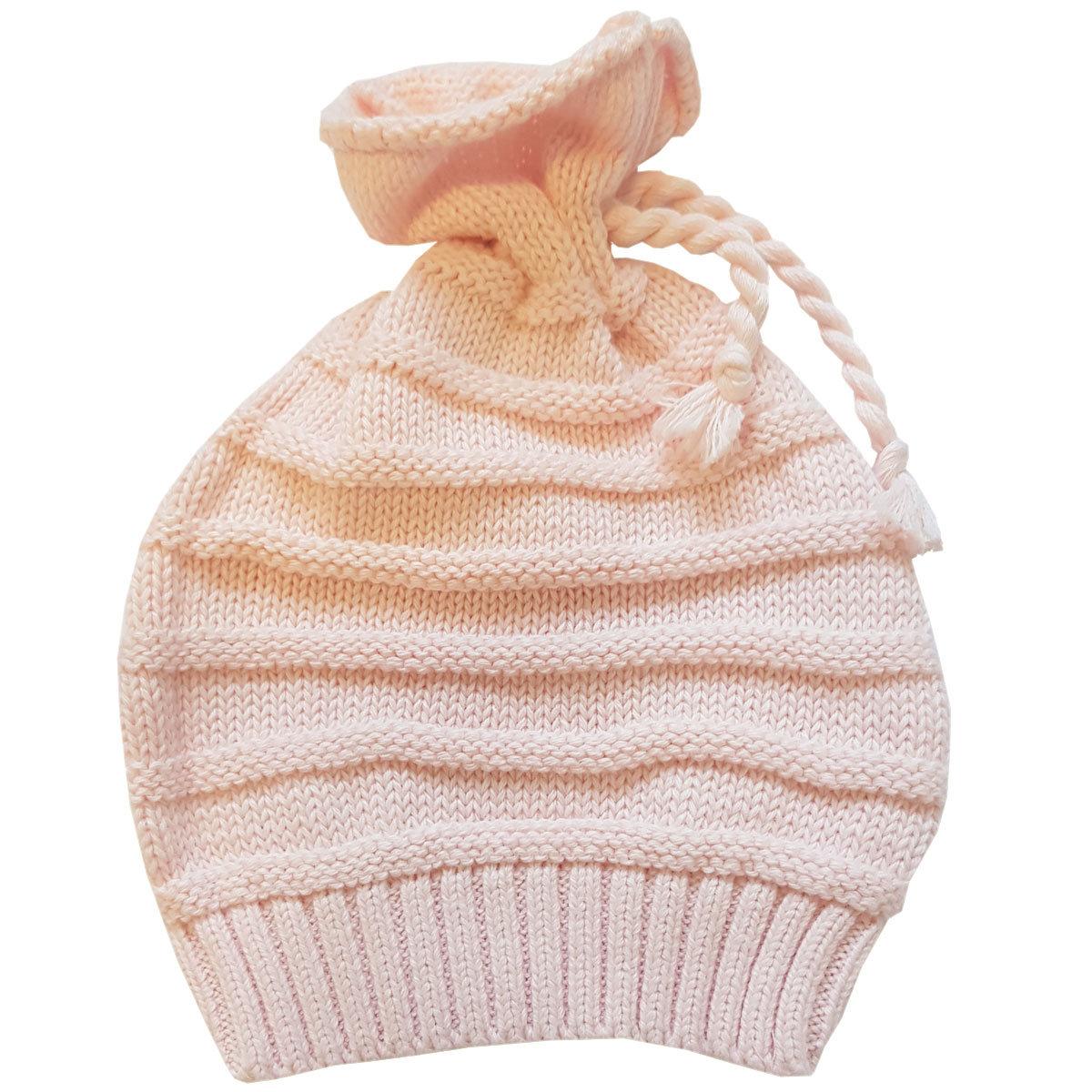 Шапочка для девочки Папитто вязаная (цвет: розовый, размер 36-40)