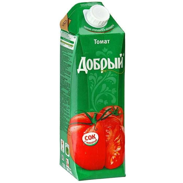 Сок Добрый томат с солью 1л т/пак