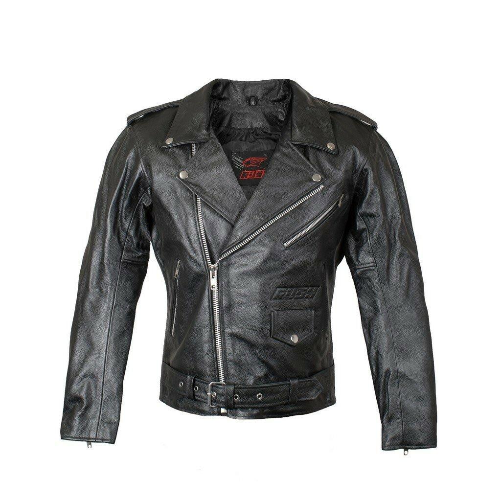 RUSH [RUSH] Мотокуртка ROCKER кожа, цвет Черный