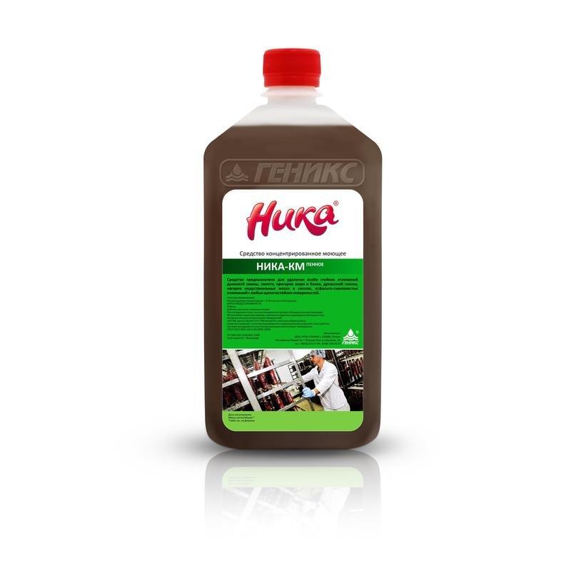 Моющее средство для удаления масложировых загрязнений и нагара Ника-КМ Пенное 1 кг (концентрат)