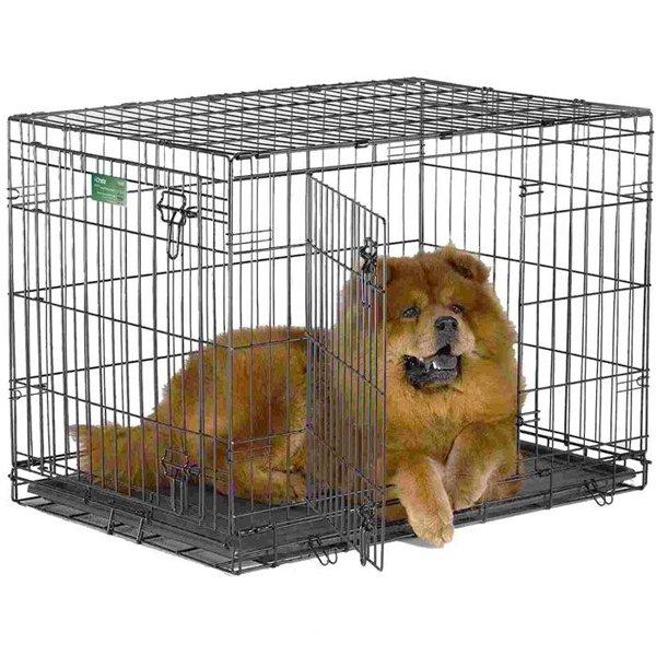Клетка для животных MIDWEST iCrate, 2 двери, 91х58х64см, черная