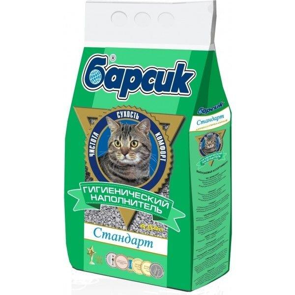 наполнитель для кошачьего туалета барсик Стандарт. Антибактериальный для кошачьего туалета, 4,54 л