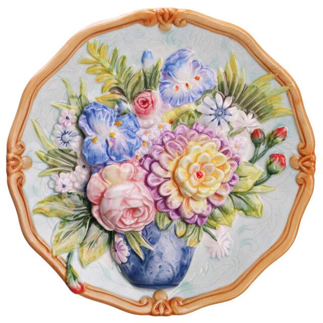 тарелка декоративная LEFARD Цветы 20см настенная керамика