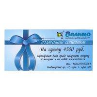 Подарочный сертификат на 4500 рублей