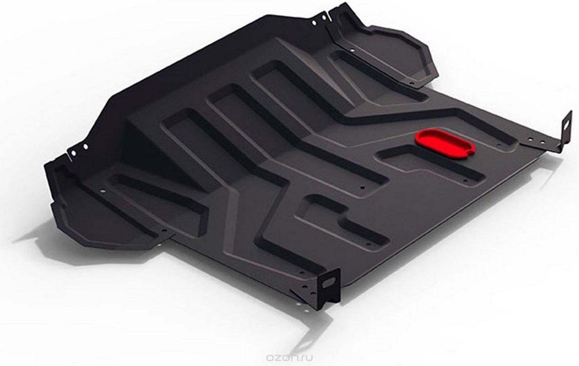 Защита картера и КПП Автоброня для Lada 2110 1995-2007/Priora 2007-н.в., сталь 2 мм, штатный крепеж. 1.06018.1