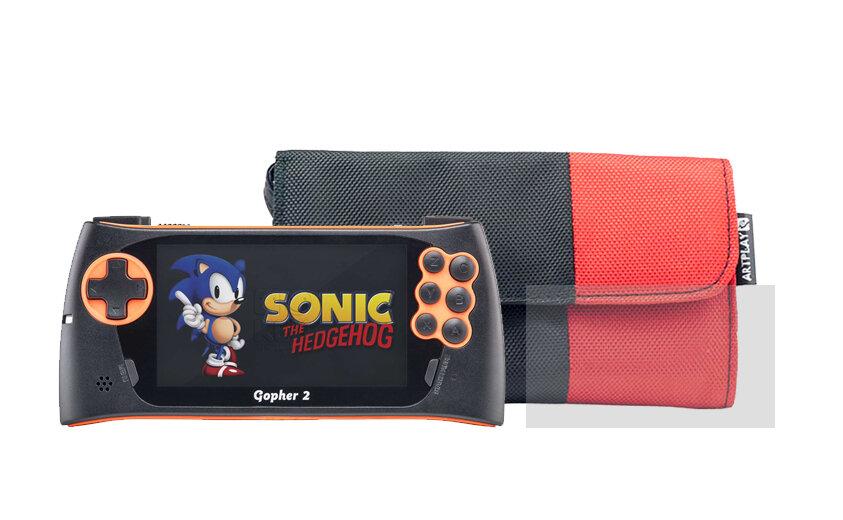 Игровая приставка Sega Genesis Gopher 2 (цвет оранжевый) + Аксессуары + 500 игр