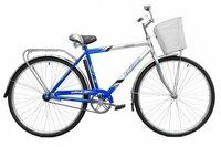 Велосипед двухколесный с корзиной Байкал 2808 фиолетовый