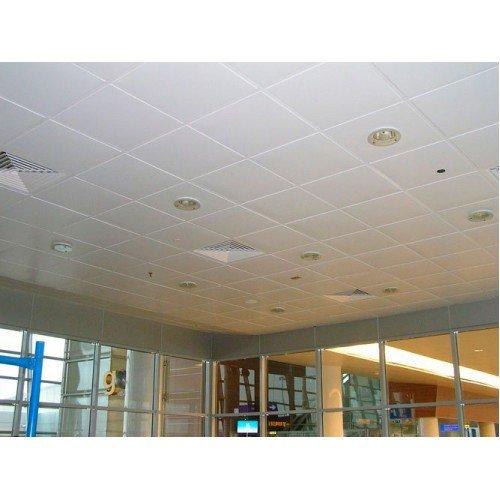 Металлический кассетный потолок AP600A6/45°/Т-24 белый матовый А902 rus Эконом