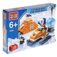 """Конструктор """"Арктика: Полярник на снегоходе"""" с фигурками UU-2504-R 2477771"""