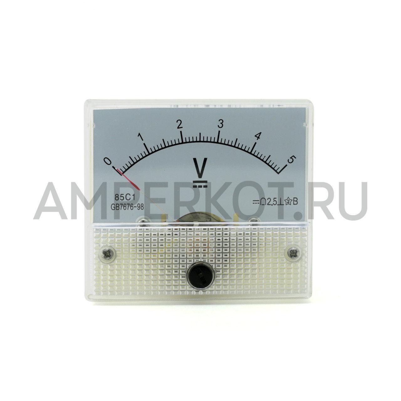Аналоговый вольтметр 85C1 5V