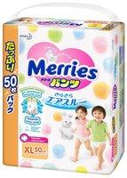Подгузники-трусики Merries XL (12 - 22 кг) 50 шт. Мегапачка