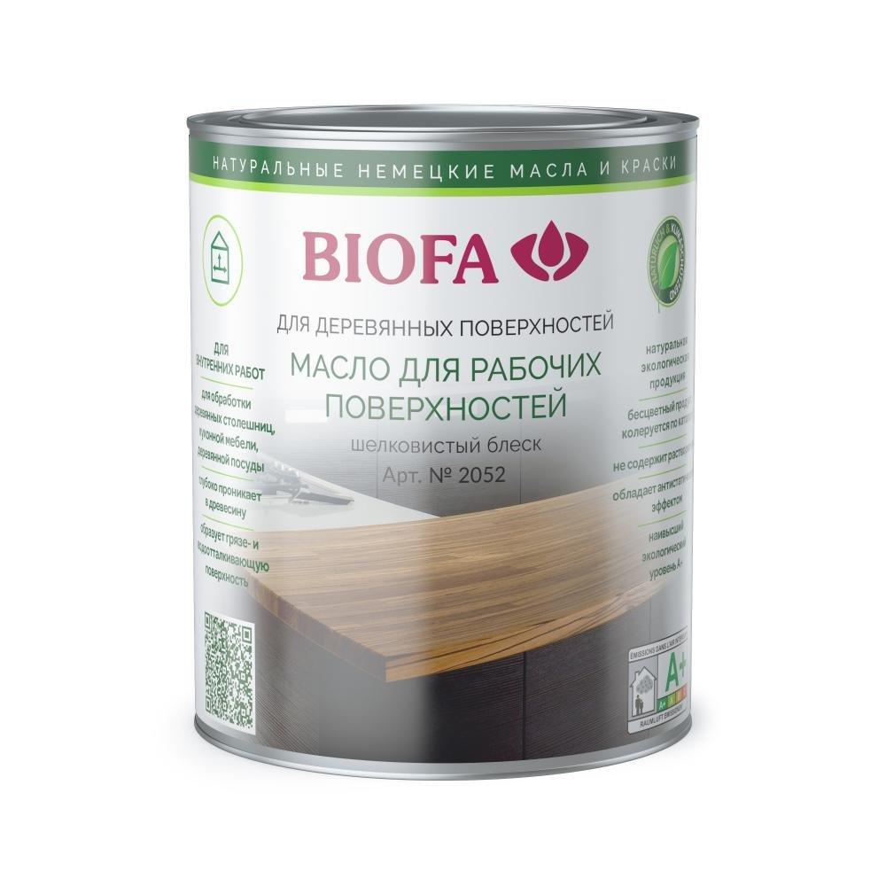 Масло для рабочих поверхностей и столешниц Биофа 2052 Biofa 0,375л