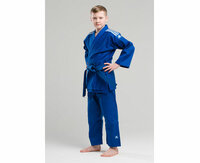 Кимоно для дзюдо Club синее с белыми полосками Adidas