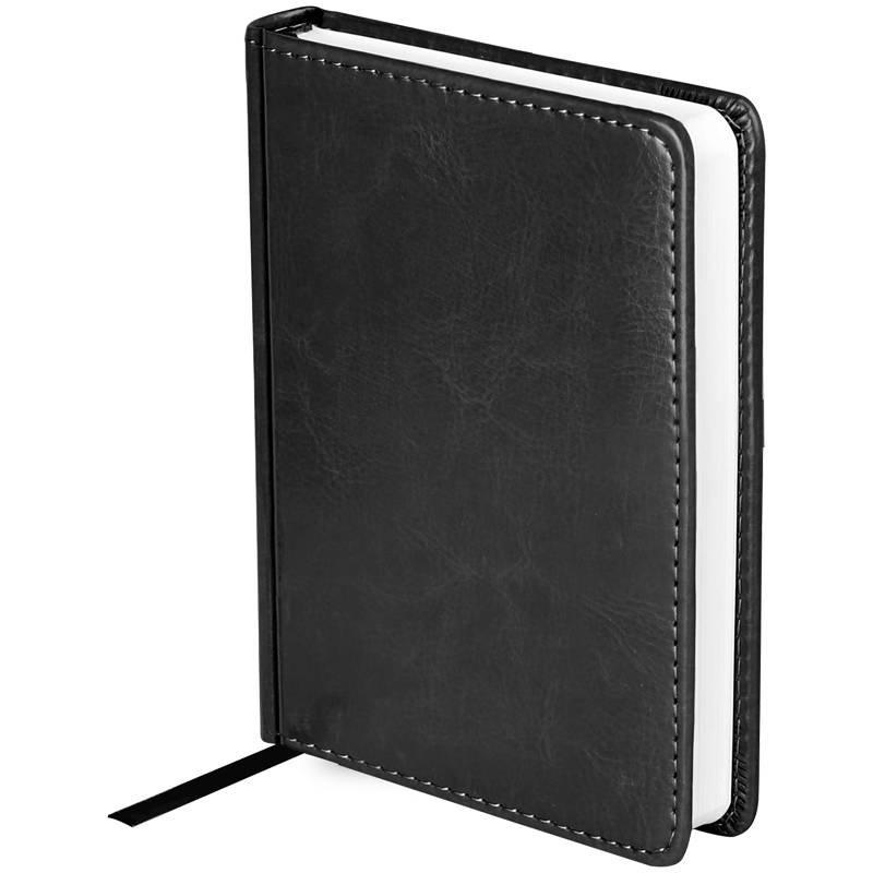 Ежедневник недатированный, A6, 136л., кожзам, OfficeSpace Nebraska, черный