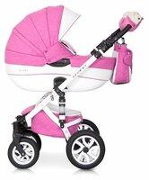 Коляска 3-в-1 Riko Bruno Ecco (3-в-1) 18 pink/white