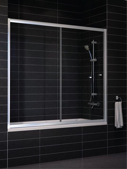 Шторка на ванну Vegas Zeus V 180 профиль глянцевый хром стекло сатин
