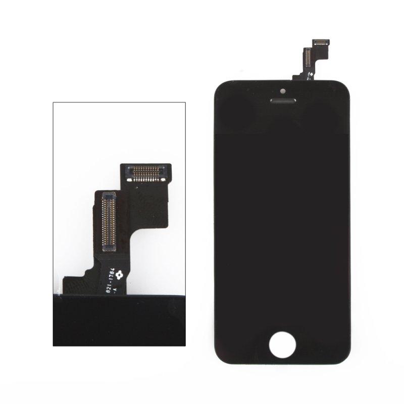Дисплей с тачскрином LP LCD с тачскрином для iPhone 5S, (AAA) 1-я категория, чёрный