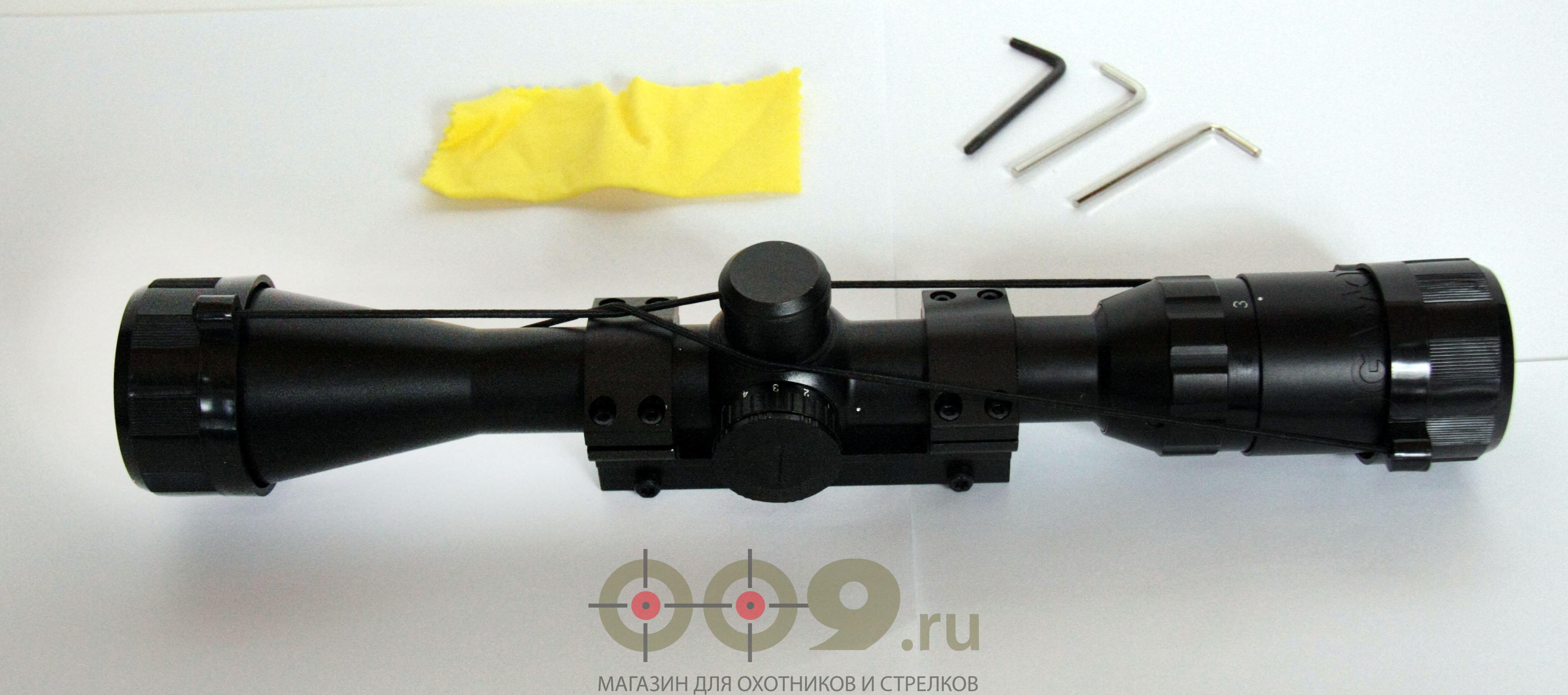 Прицел оптический Gamo 3-9х40 IRWR с подсветкой прицельной сетки.