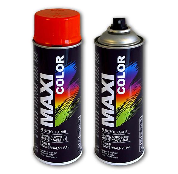Аэрозольная краска универсальная MAXI COLOR (RAL) алкидная Maxi Color 0202-01 MF