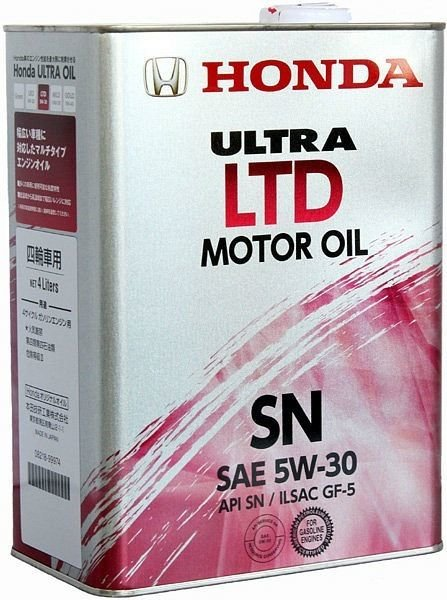 Моторное масло Honda Ultra LTD SN 5w30 4л (0821899974)