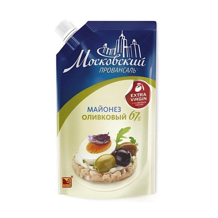 Майонез Московский провансаль оливковый 67% дой-пак 390мл.