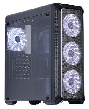 Корпус ATX Zalman I3 черный, с окном, без БП, FAN CONTROLLER, 4x120mm FAN