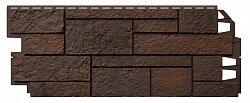 Фасадная панель (цокольный сайдинг) Vox Solid Sandstone Dark brown