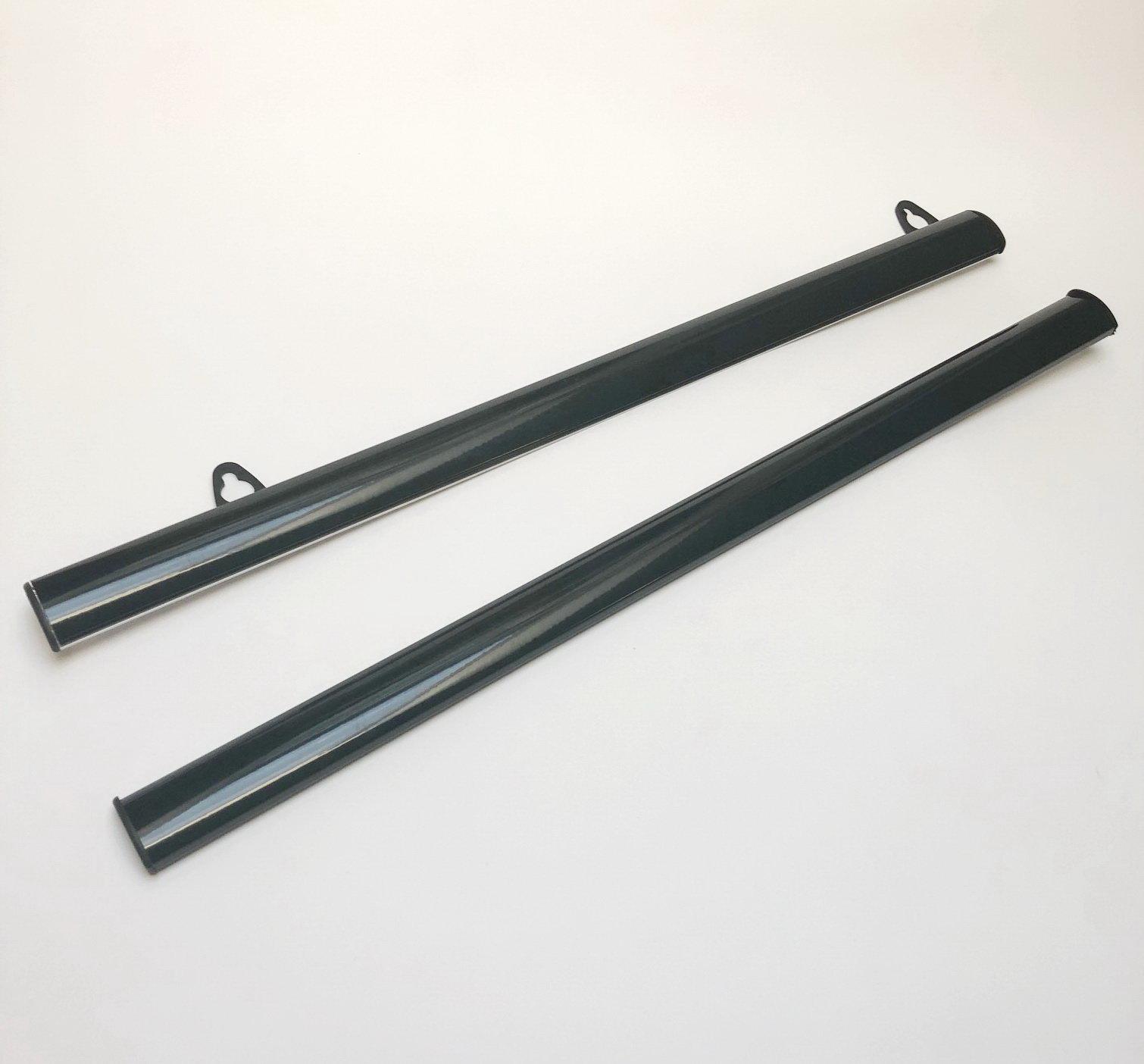 Держатель плакатов черные А0 (840 мм.) с подвесами.
