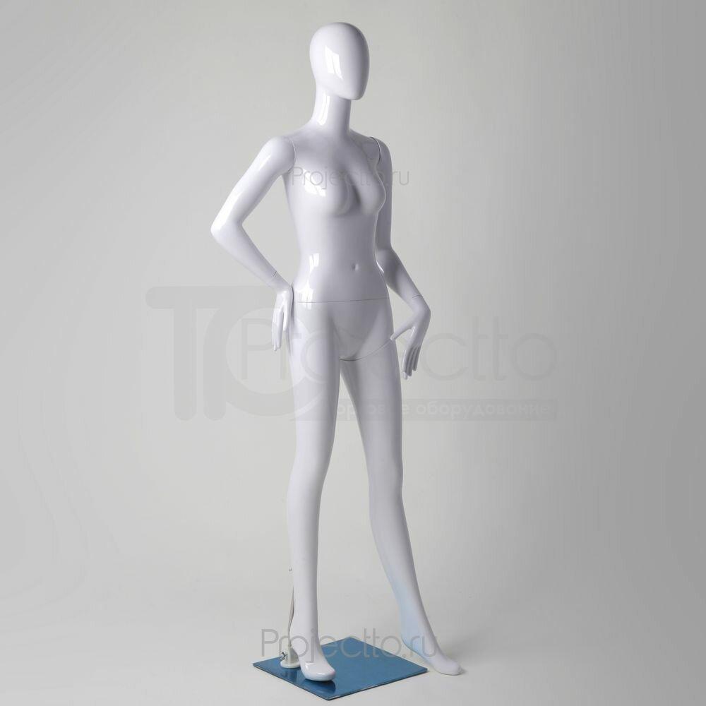 Манекен женский глянцевый, белый GLW-Y07(B1)