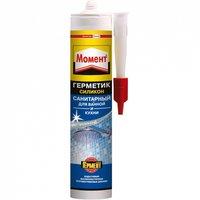 Герметик силиконовый санитарный Момент Санитарный 2002675 для ванной и кухни, прозрачный, 280 мл.