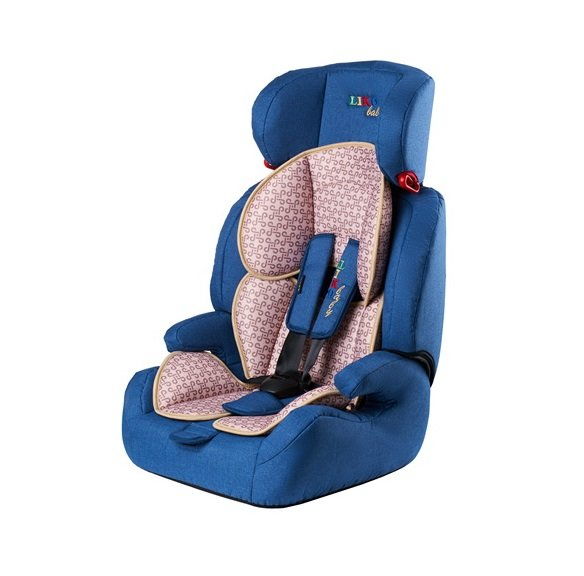 Автокресло Liko Baby 515 B 1-2-3 (9-36 кг) Синий/Лен