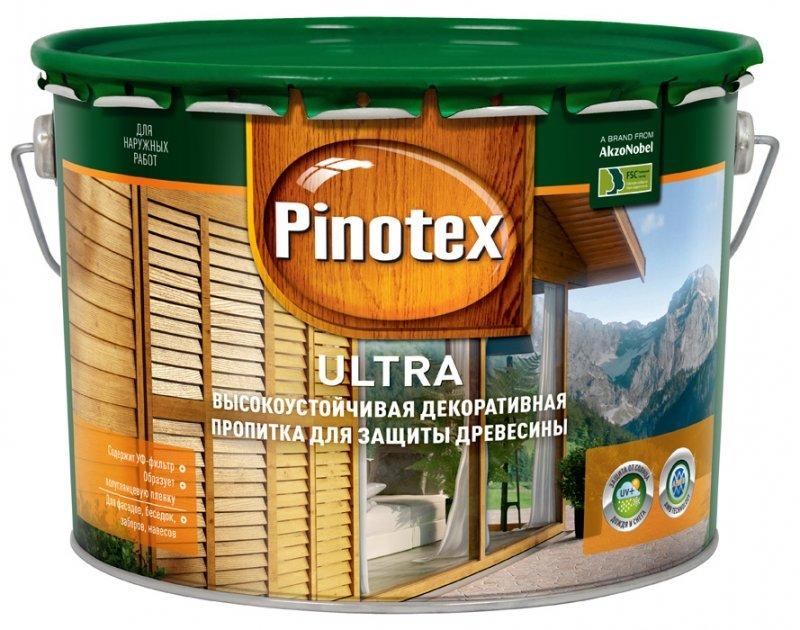 Пропитка PINOTEX ULTRA полуглянцевая белая 9 л.