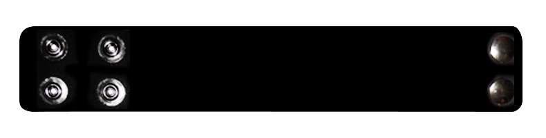Perri's 444 (P25AB-01) - Кожаный браслет черный, стильный