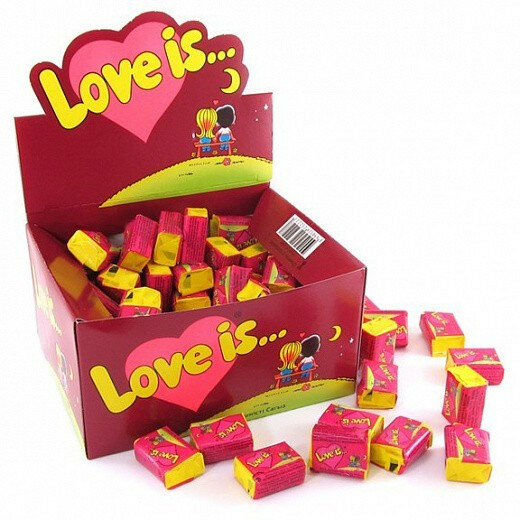 Жевательная резинка Love is Вишня-Лимон, 100 шт * 4,2 г