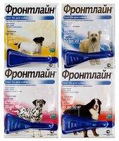 Капли от клещей, блох, вшей, власоедов для собак Фронтлайн Спот Он М, весом 10-20 кг, одна пипетка - фото 1