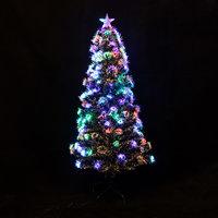 Новогоднее украшение - Ёлка светодиодная оптоволоконная, 1.5 м, ассорти