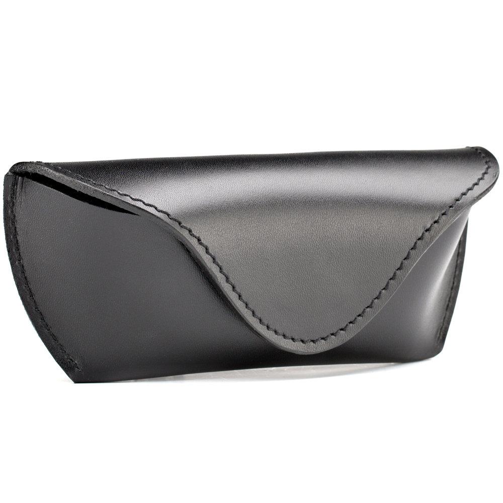 Кожаный футляр для очков (чёрный)