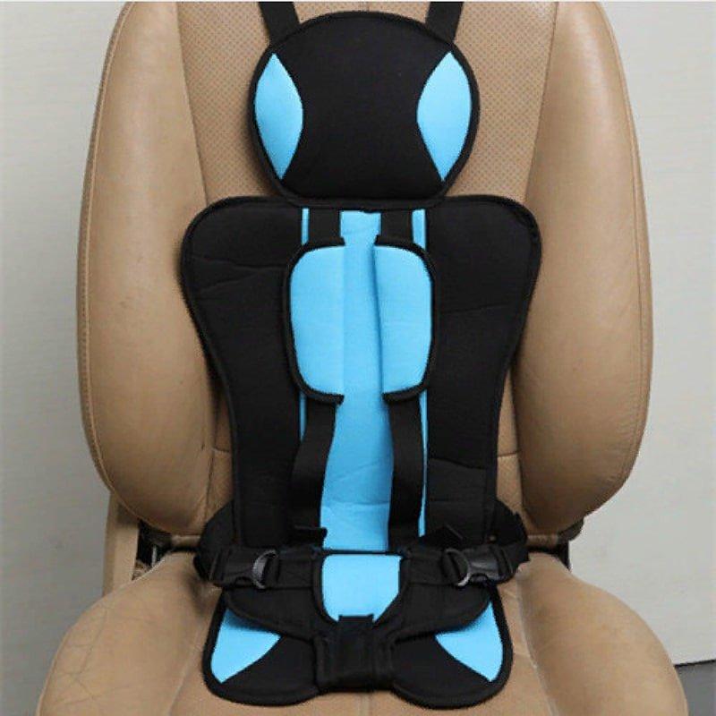 Детское мягкое бескаркасное автокресло Child Car Seat голубое