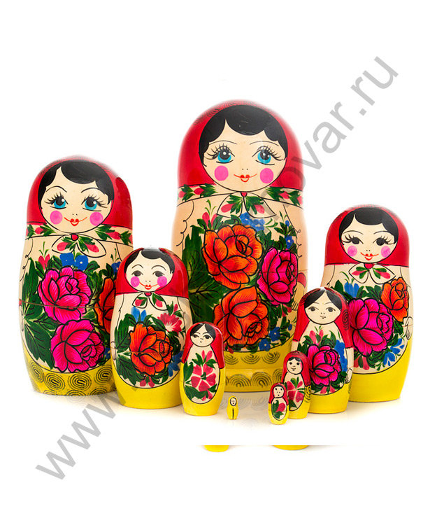 """Матрешка """"Семеновская"""" 9 мест"""
