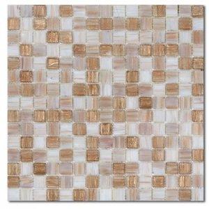Смесь из стеклянной мозаики Rose Mosaic Samoa R+ (плитка 20x20 мм), матрица 327*327 мм (в коробке 2,14 м2) Rose Mosaic Samoa R+
