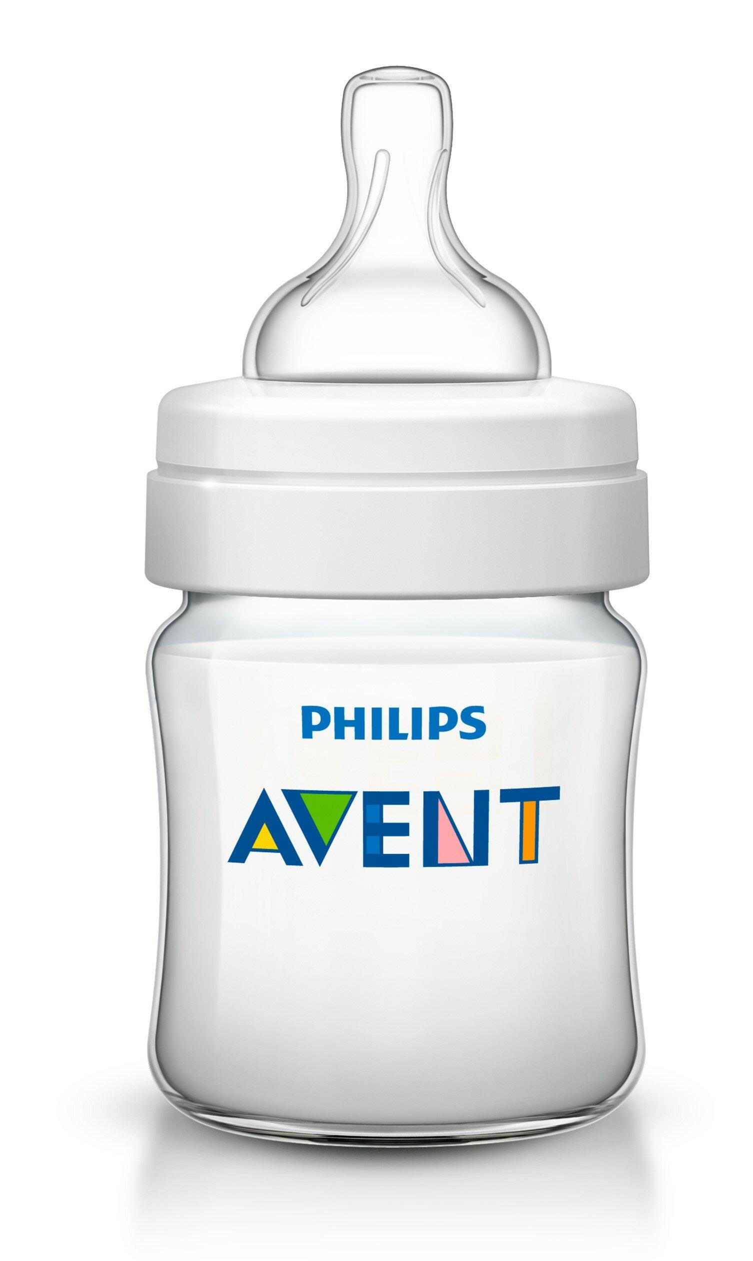 Philips AVENT Бутылочка полипропиленовая Classic+ SCF560/17, 125 мл с рождения