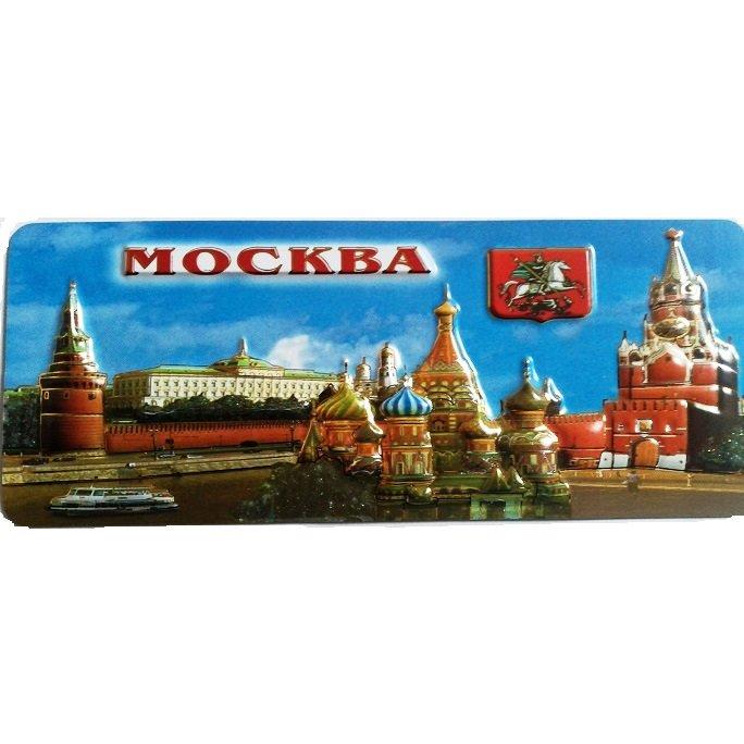 Магниты большие с видами Москвы