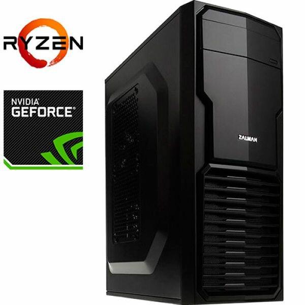Компьютер PRO-0250763 AMD Ryzen 7 2700 3200МГц, AMD B450, 64Гб DDR4 2400МГц, HDD 2Тб, DVD-RW, NVIDIA GeForce RTX 2080 Ti 11Гб, 800Вт, Mini-Tower