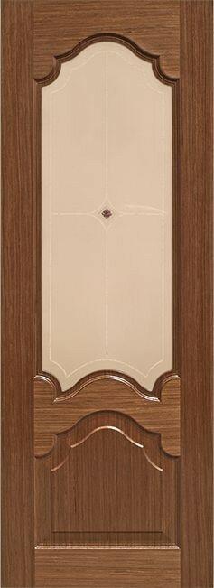 Межкомнатная дверь Виктория Орех со стеклом