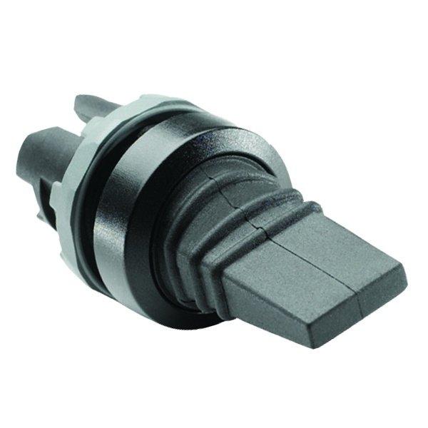 Переключатель-тумблер ABB MTS2-10B черный на 3 положения вертикального исполнения с возвратом в сред (1SFA611301R1006)