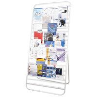 Стенд для рекламных материалов напольный 10П, (в2000*ш500*г900мм), белый, 452